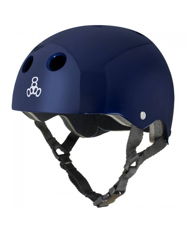 Casco Standard T8 Blue Metallic