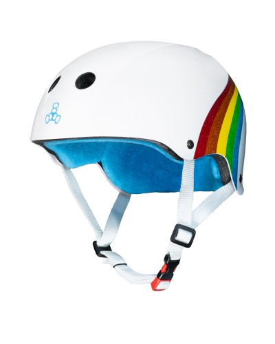 Casco T8 White Rainbow Sparkle